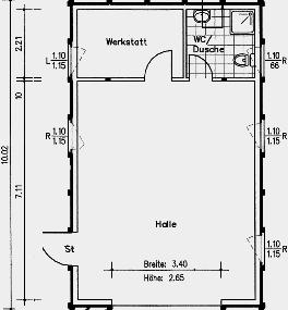 Top Definición el techo de la casa: Einzelgarage maße UN95